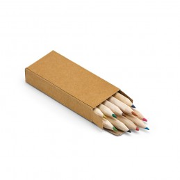 Pencil box with 10 coloured pencils 91931.60, Natural