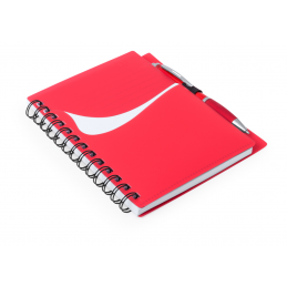 Dymas - carnețel A6 cu spirala AP781039-05, roșu