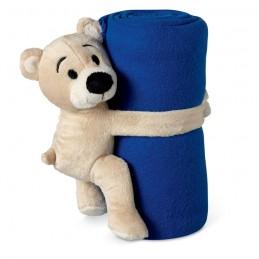 MANTA - Pătură polar cu ursuleț        MO8252-04, Blue