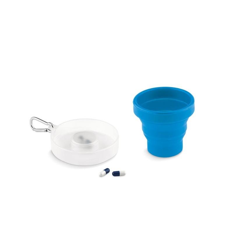 CUP PILL - Pahar pliabil silicon          MO9196-04, Blue