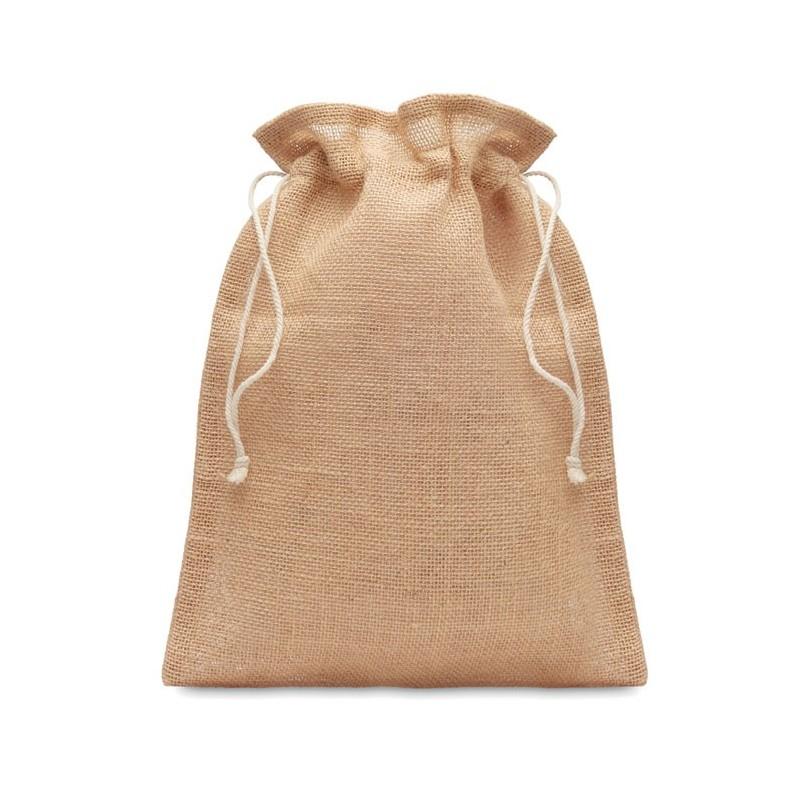 JUTE SMALL - Săculeț cadouri de iută14x22cm MO9928-13, Beige
