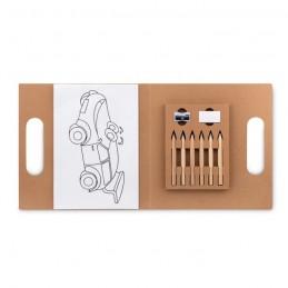 FOLDER2 GO - Set pt colorat cu 6 creioane   MO9544-13, Beige