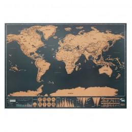 BEEN THERE - Harta lumii răzuibilă 42x30 cm MO9736-13, Beige
