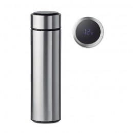 POLE - Sticlă cu termometru tactil    MO9796-16, Dull silver