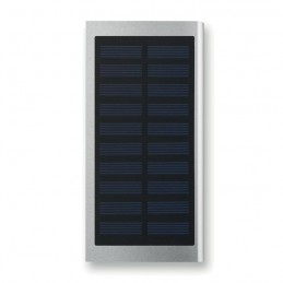 SOLAR POWERFLAT - Baterie externă solară 8000mAh MO9051-16, Dull silver