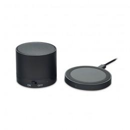 ROUND LESS - Boxă cu încărcare wireless     MO9713-03, Negru