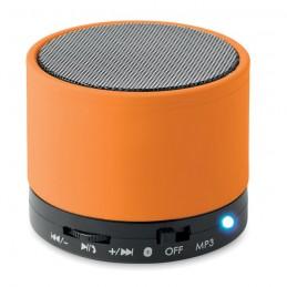 ROUND BASS - Boxă rotundă Bluetooth         MO8726-10, Portocaliu