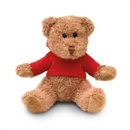 JOHNNY - Ursuleț din pluș cu tricou     MO7375-05, Rosu
