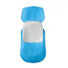 SOAP TO GO - Foi de săpun în carcasă de PP  MO9957-23, Transparent blue
