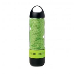 COOL - Sticlă sport cu boxă și prosop MO9158-48, Lime