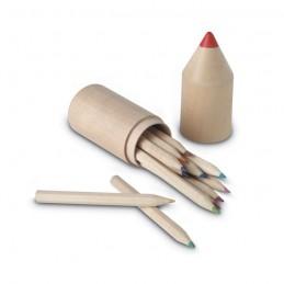 COLORET - 12 creioane în cutie din lemn  IT2691-40, Wood