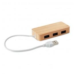 VINA - Hub USB în bambus              MO9738-40, Wood