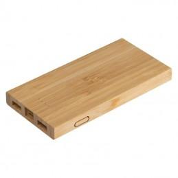 Powerbank din bambus - 3147313, Beige