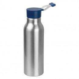 Recipient de băut din metal cu capac din silicon - 6086304, Blue