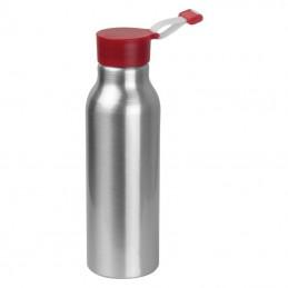 Recipient de băut din metal cu capac din silicon - 6086305, Red