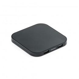 CAROLINE. Încărcător wireless și hub USB 97903.03, Negru
