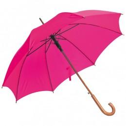 Umbrela maner lemn urbat culoare roz