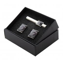 Maestro - set ac de cravată şi butoniere AP810722, argintiu