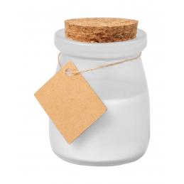 Tepor - lumânare in borcan capac pluta AP721439-01, alb