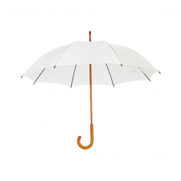 Santy - umbrelă cu mâner din lemn AP761788-01, alb