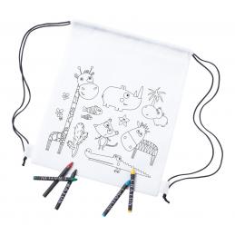 Wizzy - rucsac cu șnur AP781808-01, alb
