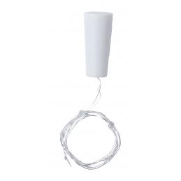 Lupok - Dop pentru sticlă cu LED AP721355-01, alb