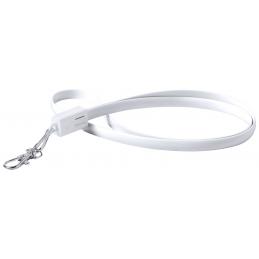 Doffer - lanyard cu cablu USB tip C AP781884-01, alb