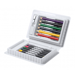 Clown - set creioane colorate AP731261-01, alb