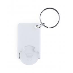 Zabax - breloc cu fisă pentru cumpărături AP741590-01, alb