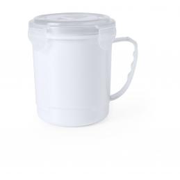 Gorex -cana plastic cu capac 710 ml AP781057-01, alb