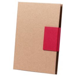 Ganok - set carnețel și notițe AP781781-05, roșu