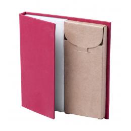 Lumar -set creioane colorate si carnetel desen AP721240-05, roșu
