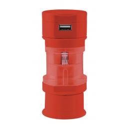 Tribox - adaptor voiaj AP741480-05, roșu