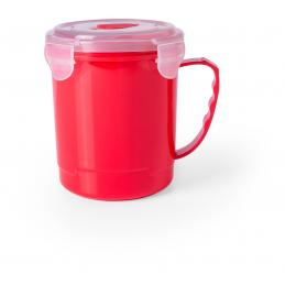 Gorex - cana plastic cu capac 710 ml  AP781057-05, roșu