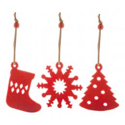 Sensi - Decoraţiuni brad Crăciun AP731978-05, roșu