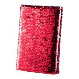 Velmont -Carnetel B7 cu 80 file coperti solzi  AP721018-05, roșu