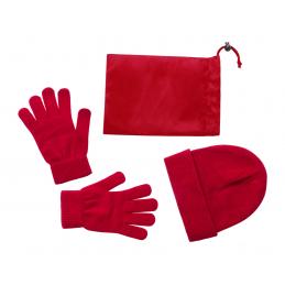 Duvel - set căciulă și mănuși AP781300-05, roșu