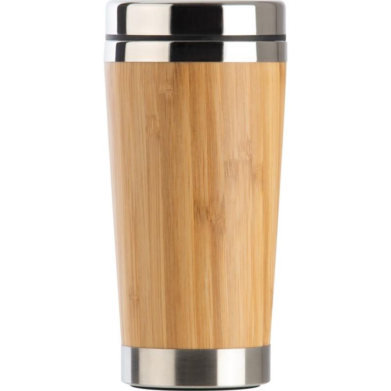 Cană termo cu invelis bambus 450 ml - 6092613, Beige