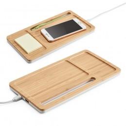 MOTT. Organizator desktop cu Incarcator wireless 97911.60, bambus