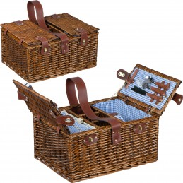 Coș picnic pentru 4 persoane - 6127601, Brown
