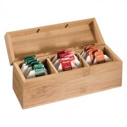 Cutie bambus pentru ceai / Tea box Damaskus - 331801, Brown