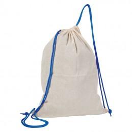 Rucsac bumbac cu siret colorat 140 gmp - 092004, Blue