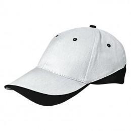 Tuxton Cap / Sapca 6 panele bicolora velcro scai - GOVATUXBN01, White-Black