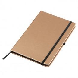 Carnetel A5 160 pagini liniate coperti aspect metalic - 093898, Gold