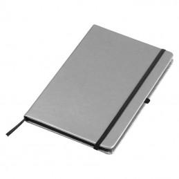 Carnetel A5 160 pagini liniate coperti aspect metalic - 093897, Silver