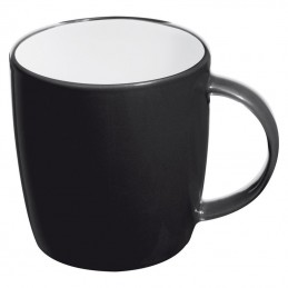 Cana ceramica 300 ml colorata interior alb - 870403, Black