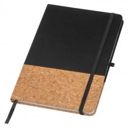 Carnetel A5 cu pluta si PU liniat 160 pagini - 139503, BLACK