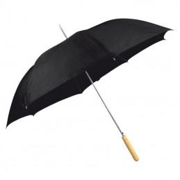 Umbrela cu maner lemn drept - 508603, Black