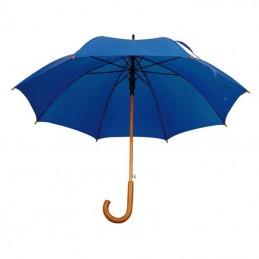 Umbrela cu maner lemn curbat - 513104, Blue