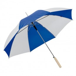 Umbrela bicolora maner lemn drept - 508504, Blue